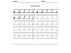 Lowercase t Worksheet