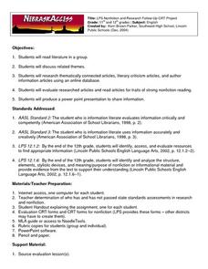 LPS Nonfiction and Research Follow-Up CRT Project Lesson Plan