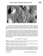 Lunar Crater Frequency Distributions Worksheet