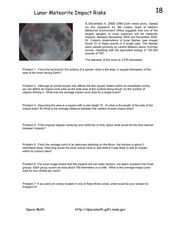 Lunar Meteorite Impact Risks Worksheet