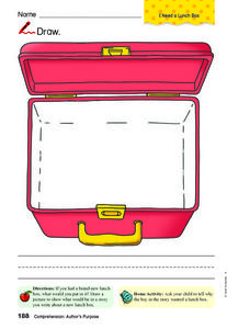 Lunch box Drawing Worksheet