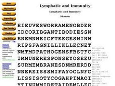 Lymphatic and Immunity Worksheet
