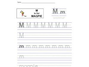 M is for Magpie Worksheet
