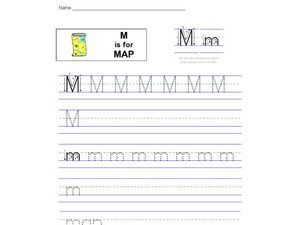 M Is For Map Worksheet