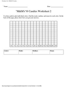 """M&M's""® Candies Worksheet 2 Lesson Plan"