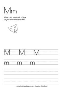M Worksheet Worksheet