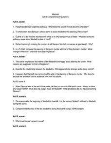 Printables Macbeth Worksheets macbeth worksheets davezan