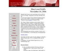 Macy's Not Fields Lesson Plan