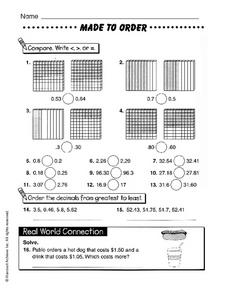 Made to Order Worksheet
