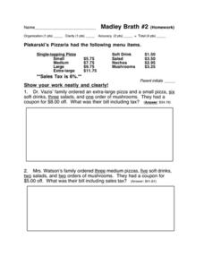 Madley Brath #2 Worksheet