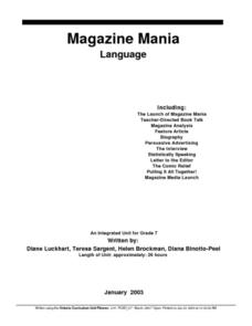 Magazine Mania Lesson Plan