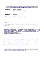 Magellan Lesson Plan