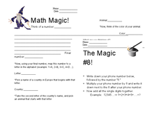 Magic Math Work Worksheet