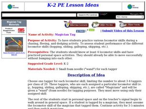 Magician Tag Lesson Plan