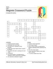 magnet crossword puzzle 3rd 4th grade worksheet lesson planet. Black Bedroom Furniture Sets. Home Design Ideas