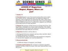 Magnetism: Magnet, Magnet, Where are you? Lesson Plan