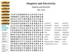 Magnets and Electricity Worksheet