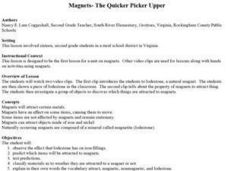 Magnets-The Quicker Picker Upper Lesson Plan