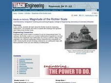 Magnitude of the Richter Scale Lesson Plan
