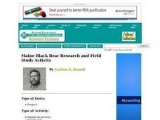 Maine Black Bear Research and Field Study Activity Lesson Plan