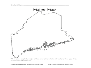 Maine Map Worksheet