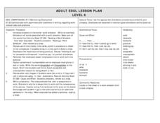 Maintaining Employment, ESOL Lesson Plan