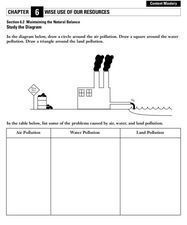 Maintaining the Natural Balance Worksheet