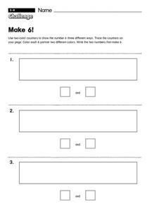 Make 6! Worksheet