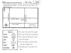 make a map 2nd 3rd grade worksheet lesson planet. Black Bedroom Furniture Sets. Home Design Ideas