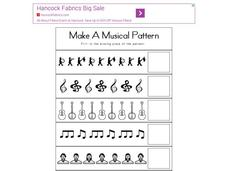 Make a Musical Pattern Worksheet