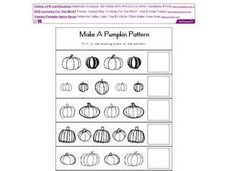 Make a Pumpkin Pattern Worksheet Worksheet