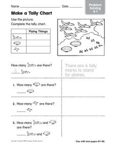 Make a Tally Chart: Problem Solving Worksheet