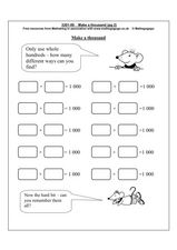 Make a Thousand Worksheet