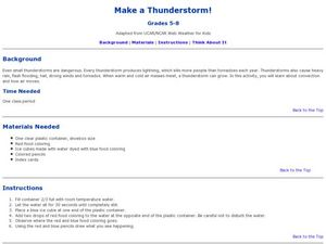 Make a Thunderstorm Lesson Plan