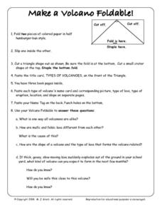 make a volcano foldable 5th 8th grade worksheet lesson planet. Black Bedroom Furniture Sets. Home Design Ideas
