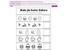 Make an Easter Pattern Worksheet
