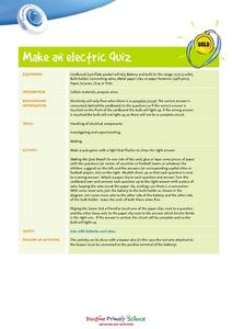 Make an Electric Quiz Worksheet