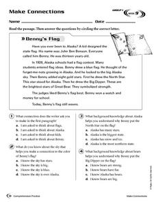 Make Connections: Benny's Flag Worksheet