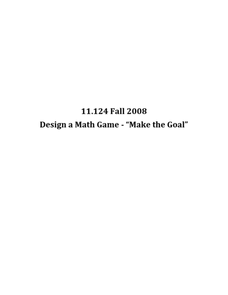 Make the Goal Lesson Plan