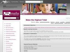 Make the Highest Total Lesson Plan