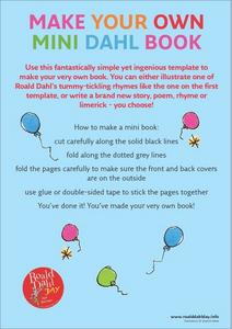 Make Your Own Mini Dahl Book Worksheet