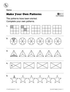 make your own patterns 1st grade worksheet lesson planet. Black Bedroom Furniture Sets. Home Design Ideas