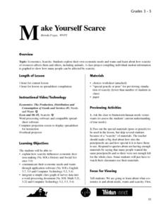 Make Yourself Scarce Lesson Plan