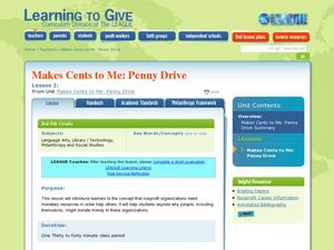 Makes Cents to Me: Penny Drive Lesson Plan