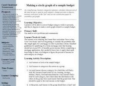 Making a Circle Graph of a Sample Budget Lesson Plan