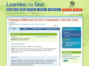Making a Difference in Our Community Lesson Plan