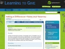 Making A Difference -- Today and Tomorrow Lesson Plan