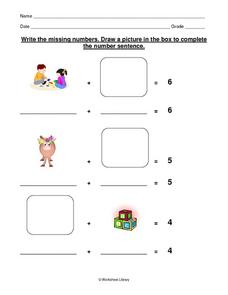 Making a Number Sentence Worksheet