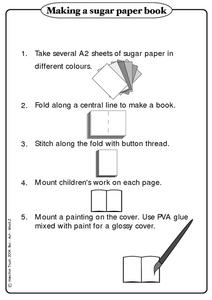 Making a Paper Book Worksheet