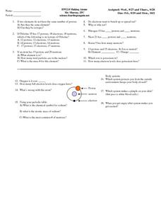 Making Atoms Worksheet